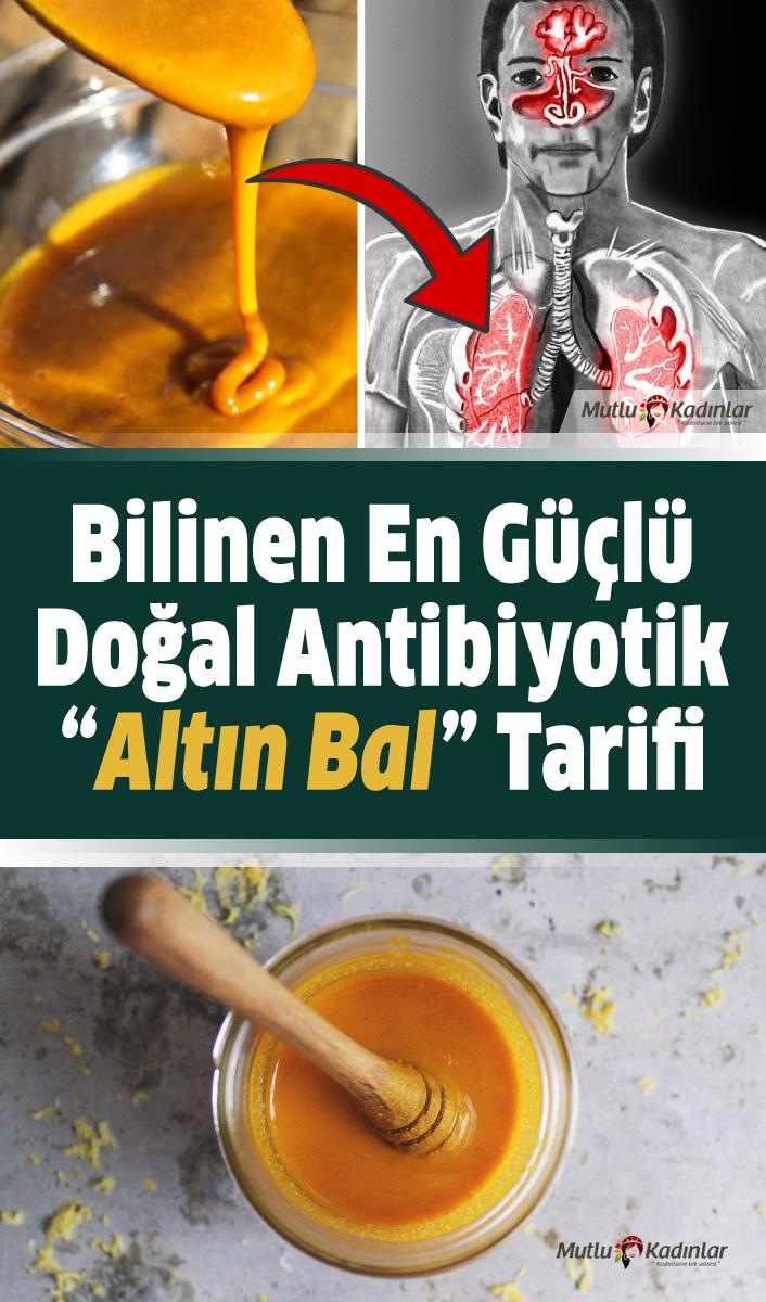 """Bilinen en güçlü doğal antibiyotik """"Altın Bal"""" tarifi"""