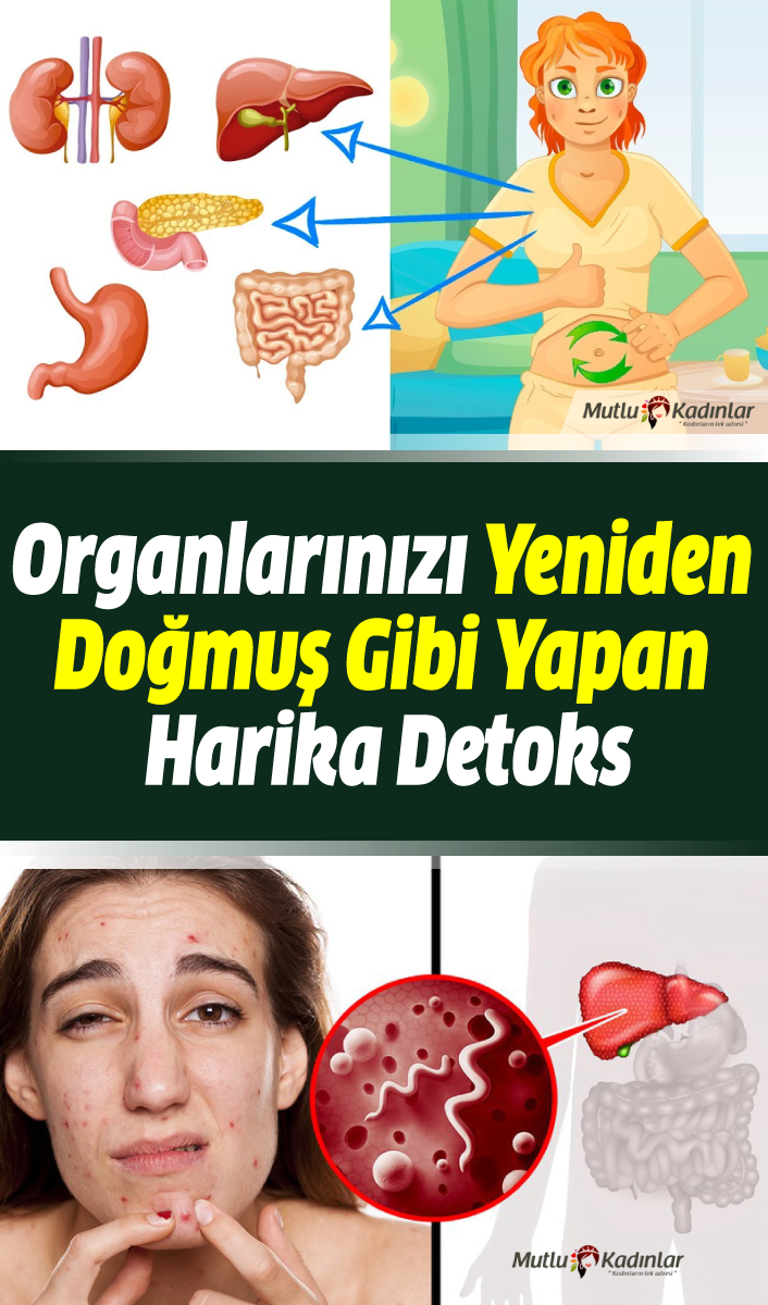 Bütün organlarınızı yeniden doğmuş gibi yapan doğal detoks