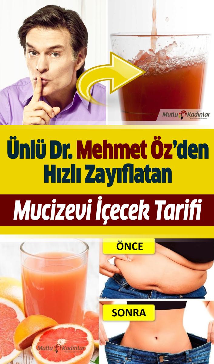 Doktor Mehmet Öz'den mucizevi etkili ve hızlı zayıflatan içecek tarifi